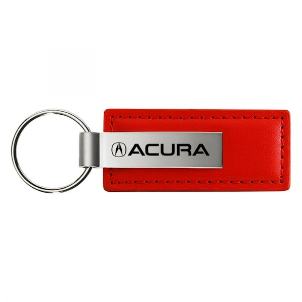 Acura Red Leather Key Chain