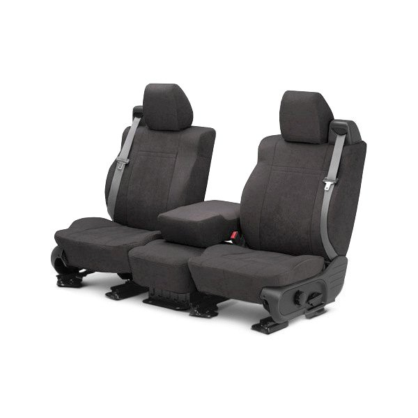 CalTrend® - MicroSuede 1st Row Charcoal Custom Seat Covers