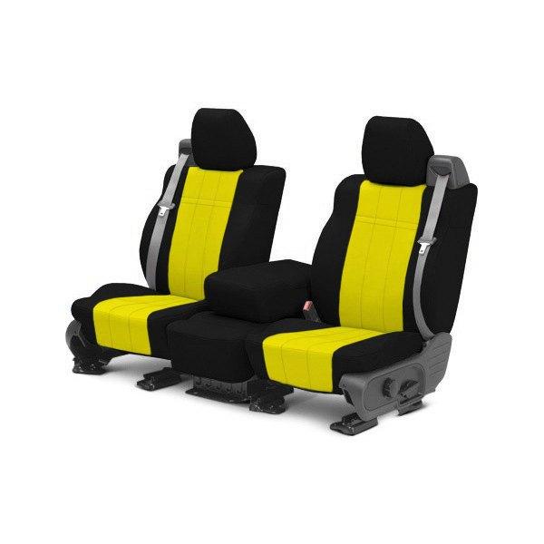 CalTrend® - NeoSupreme 1st Row Black & Yellow Custom Seat Covers