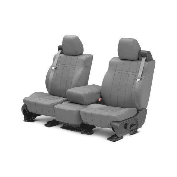 CalTrend® - NeoSupreme 1st Row Light Gray Custom Seat Covers