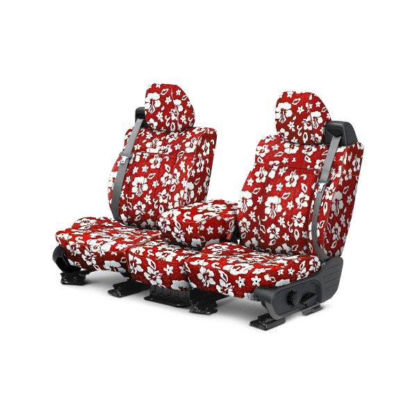 CalTrend® - NeoSupreme 1st Row Hawaiian Red Custom Seat Covers