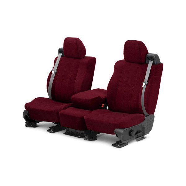 CalTrend® - O.E. Velour 1st Row Red Custom Seat Covers