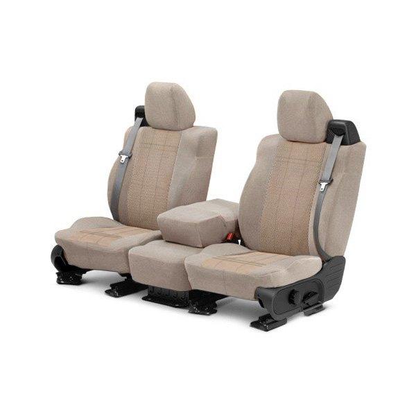CalTrend® - O.E. Velour 1st Row Sandstone & Monarch Custom Seat Covers