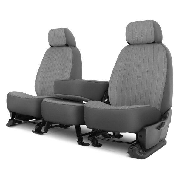 Dash Designs® - Madera™ 1st Row Silver Custom Seat Covers