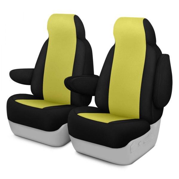 Dash Designs® - Neosupreme™ 1st Row Yellow with Black Custom Seat Covers