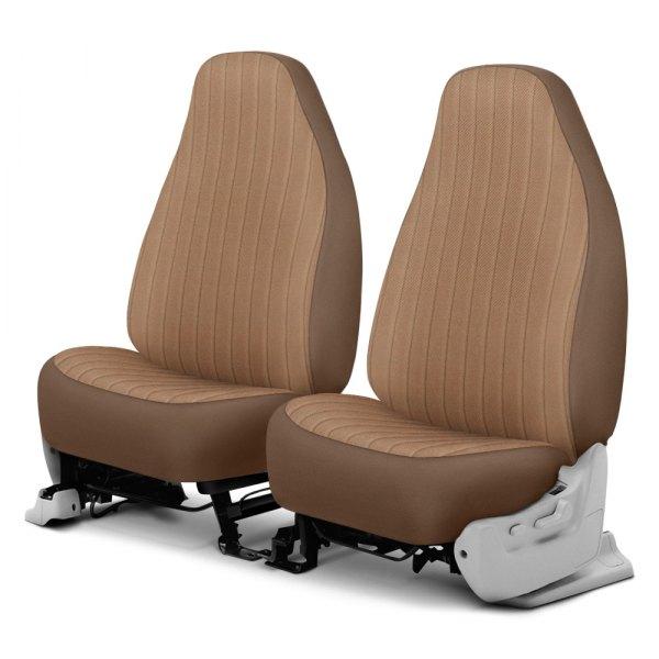 Dash Designs® - Madera™ 1st Row Sandstone Custom Seat Covers