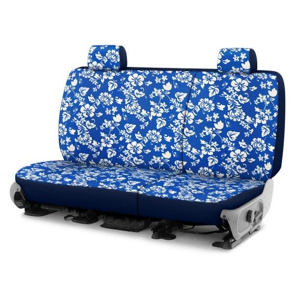 Dash Designs® - Hawaiian™ 2nd Row Blue Custom Seat Covers