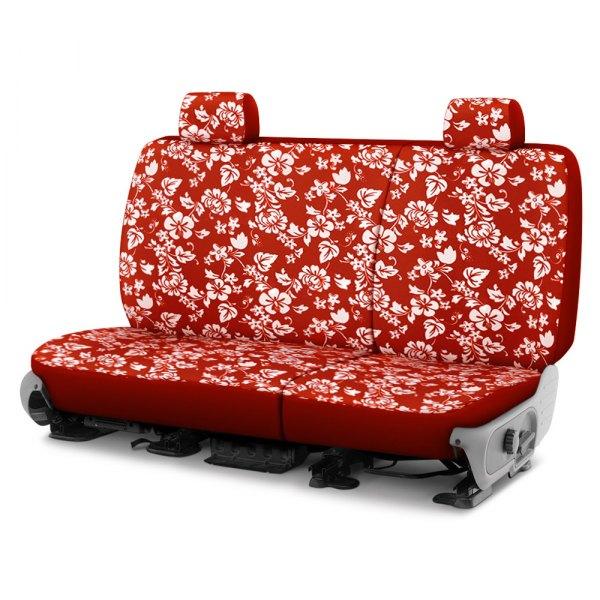 Dash Designs® - Hawaiian™ 1st Row Red Custom Seat Covers