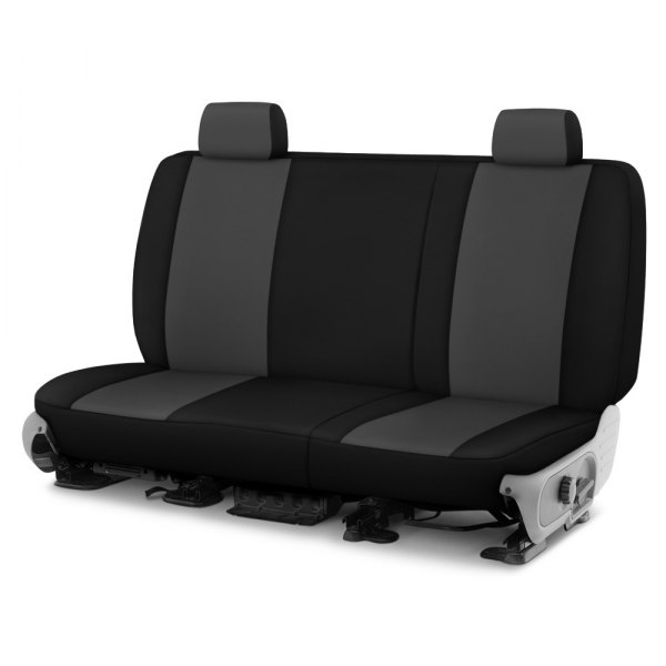 Dash Designs® - Neosupreme™ 2nd Row Charcoal with Black Custom Seat Covers