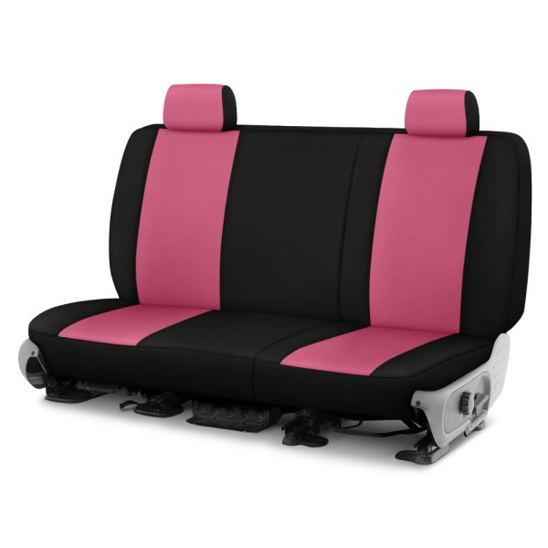 Dash Designs® - Neosupreme™ 2nd Row Pink with Black Custom Seat Covers