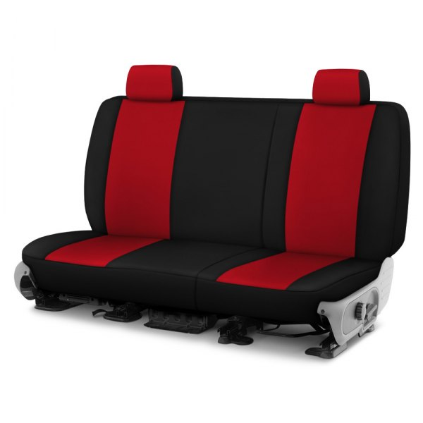 Dash Designs® - Neosupreme™ 1st Row Red with Black Custom Seat Covers
