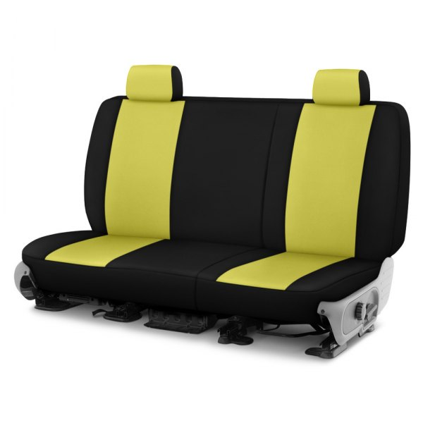 Dash Designs® - Neosupreme™ 2nd Row Yellow with Black Custom Seat Covers