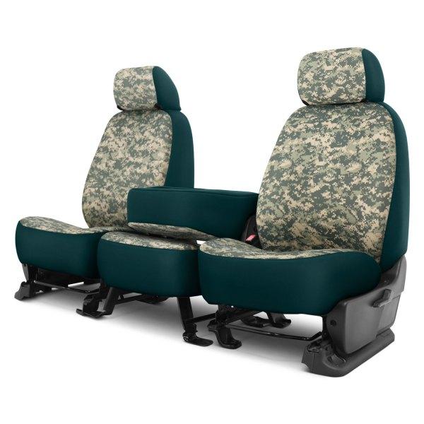 Dash Designs® - Camo™ 1st Row Digital Green Custom Seat Covers