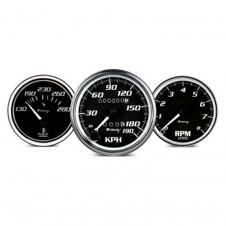 Semi Truck Custom Gauges | Stainless, Color, Illuminated