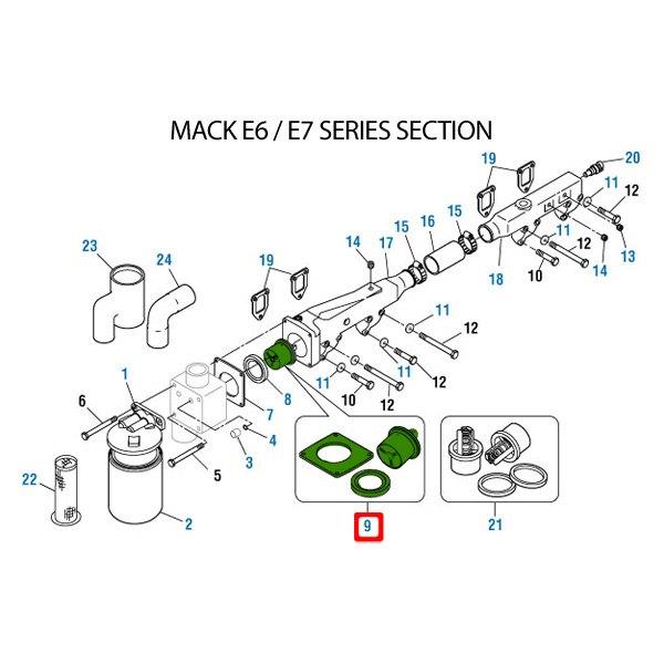 PAI® - Mack Pinnacle Series E7 Engine Mack Engine 1996 Engine Coolant  Thermostat Kit - TRUCKiD.comSemi Truck