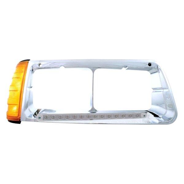 United Pacific 32495 14 LED Passenger Side FLD Headlight Bezel